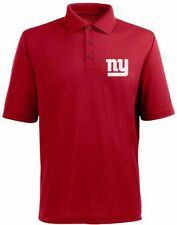 New York Giants NFL Team Apparel Red Dri Fit Polo Golf Shirt Big & Tall Sizes