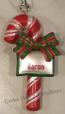 Personalized Candy Cane Ornament-Choose Name From Drop Down Menu - C thru F