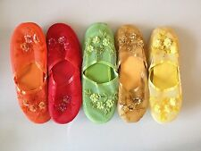 Women's Mesh Floral Beaded Sequined Slippers