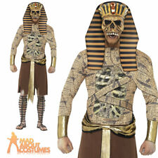 Adult Zombie Pharaoh Costume Mens Egyptian Halloween Mummy Fancy Dress Outfit