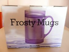 4 Frosty Mugs 15 oz aluminum lined w/ refreezable liquid  Ice cold Beer NIB