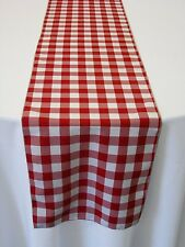 "ArtOFabric Checkered Gingham Poly Poplin Table runner 12"" X 72"" Inch"
