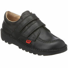 Kickers Kick Lo Vel Infant Kids Juniors Black Leather Boys Back To School Shoes