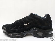 Nike Air Max Plus Premium TN Tuned 1 Mens Suede Trainers Shoes Black/Wolf Grey
