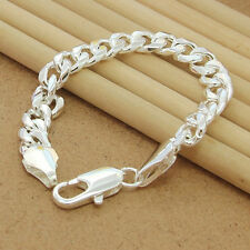 Charming New Silver Plated Fashion Cute Nice Men Chain Bracelet Jewelry Hot