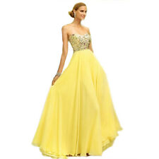 Sexy Women Strapless Sequins Evening Party Ball Prom Gown Formal Cocktail Dress