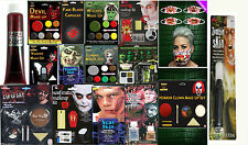 New Halloween Face Paint Make Up Kit Vampire Zombie Devil Witch Blood Scar Set
