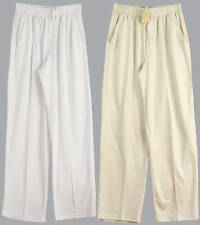 Mens Cricket Pants CP29 | Whites, Cream, Polyester, S M L XL 2XL 3XL, Elastic
