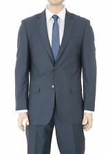 Modern Fit Blue Tonal Striped Two Button Wool Blend Suit