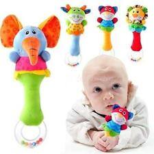 Lovely Baby Kid Soft Animal Model Handbell Rattles Handle Developmental Toy EVHG