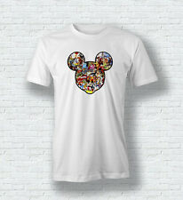 Disney All Characters Mickey Princess T Shirt For Men Woman Kids White Black