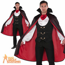 Mens Vampire Costume Very Cool Dracula True Vamp Fancy Dress Halloween Outfit