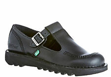 Kickers Women's Kick Lo Aztec Black Leather Back To School Shoes