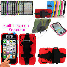 ROBUST MILITARY BUILDERS HEAVY DUTY SHOCK PROOF TOUGH CASE COVER + BELT CLIP