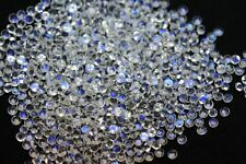 1mm to 6mm Natural Rainbow Moonstone Calibrated Size Round Cut Loose Gemstone