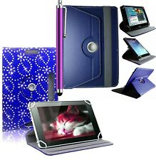"""Universal PU Leather Folio Stand Case Cover For 7"""" Android Tablets"""