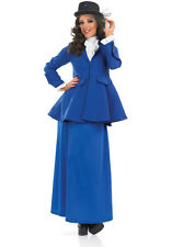 ADULT LADIES POSH VICTORIAN LADY MARY POPPINS FANCY DRESS COSTUME SIZES: M-L-XL