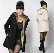 Women Thicken Warm Winter Coat Hood Parka Overcoat Long Jacket Outwear 04