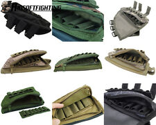 1X Tactical Rifle Butt Stock Cheek Rest Shell Ammo Pouch Bag Right Hand Package