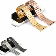 Stainless Steel Butterfly Link Bracelet Watchband Strap For Apple Watch 38/42MM