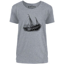 Mintage Wooden Yacht Mens Scoop Neck T-Shirt