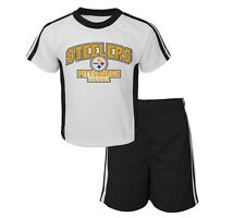 NWT NEW Infant NFL Pittsburgh STEELERS Tee and Mesh Short Set 12M 18M 3T 4T