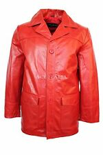 FIGHT CLUB' Men's RED Hollywood FILM Movie. Style Leather Reefer Jacket Coat