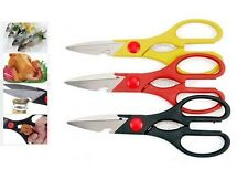 2 x Multifunction Heavy Duty Kitchen Scissors Stainless Steel Fish Poultry Meat