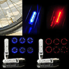 7 LED Neon Cycle Bicycle Bike Lamp Wheel Tire Spoke Valve Flash Light + Battery