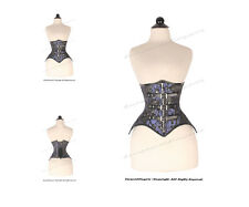 18 Full Double Steel Boned Waist Training Brocade Underbust Corset #8569-BRO