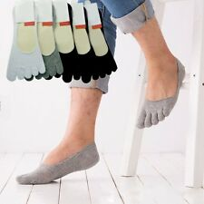 Hot 5 pairs Men's five finger toe Socks Invisible Nonslip Ankle No Show Low Cut