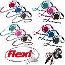 FLEXI VARIO RETRACTABLE DOG LEADS TAPE CORD EXTENDABLE LEAD & ALL ACCESSORIES
