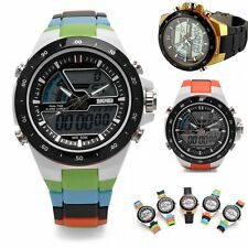 Sport Men Women lovers LED Digital Display Waterproof Analog Quartz Wrist Watch