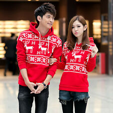 Couple Women Men Sport Casual Pullover Sweater Coat Hoodie Hooded Sweatshirt Top