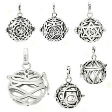 Silver Plated Charm Harmony Ball Mexican Bola Angel Caller Only Cage 16/18/20CM