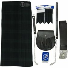 Black Watch Kit/Outfit 5 pc Kilt Sporran Pin Belt Flashes FREE 3 DAY DELIVERY