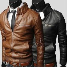 Fashion Men's New jackets collar Slim motorcycle leather jacket outwear coat