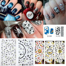 Mixed Style Halloween Nail Art Sticker 3D Decals/Water Transfer/Nail Polish Wrap