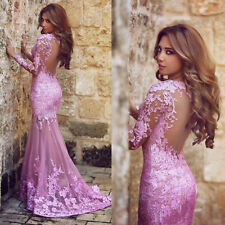 New Hot Fashion Formal Long Evening Dress Sexy Backless Mermaid Prom Party Gown
