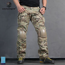 Tactical Gen2 Emerson Combat Pants with knee pads Airsoft Pants MultiCam 6992