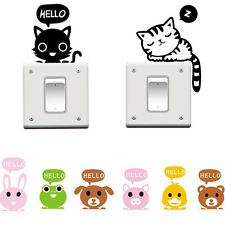 Animal Removable Switch Art Vinyl Decal Wall Window Light Stickers Home Decor UK
