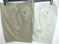 ROUNDTREE & YORKE TRAVEL SMART CLASSIC FIT PLEATED BIG MAN KHAKI STRING Sz48 NWT