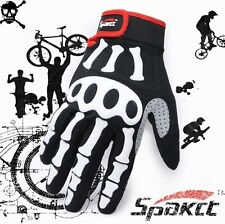 Cycling Off-road racing motorcycle Bike Bicycle Skeleton Full Finger Glove M-XL