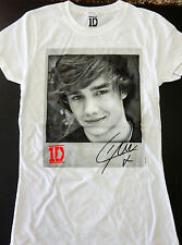 NEW! Girls Size White Liam Payne One Direction Signature T Shirt Medium XL 1D