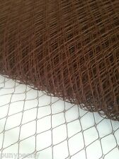 "10"" Brown Birdcage Veil Netting, French/Russian Net,  Bridal Headpiece Veil,"