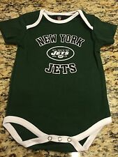 NEW YORK JETS CREEPER--BLACK-12 MONTHS OR 18 MONTHS-LICENSED-BRAND NEW