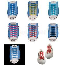 Pair/12pcs Silicone Elastic Shoelaces No Tie Shoe Laces Running Walking Sneakers