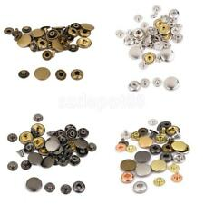Metal Poppers Snap fastener Press stud Sewing Leather craft Clothes Bags 15mm