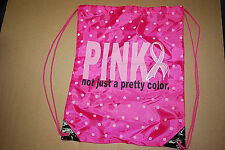 Breast Cancer Awareness Asst'd Patterns Cinch Sack Drawstring Backpack (#S5341)