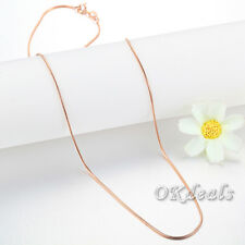 "18"" Wholesale Lot Women Silver Rose Gold Plated Snake Necklace Chain Jewelry"